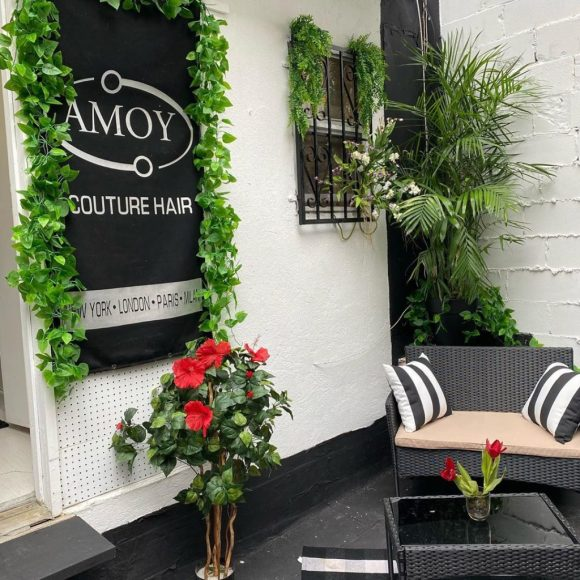 the rooftop garden at Amoy Couture Hair Salon