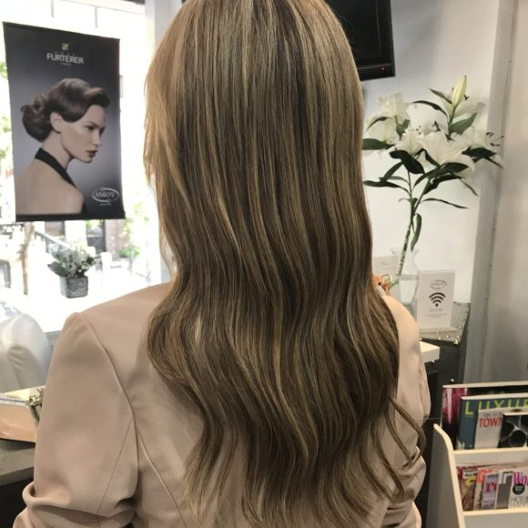 all over hair color, hair extensions manhattan