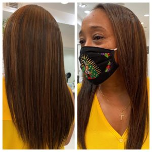 hair extensions with highlights amoy couture salon upper east side