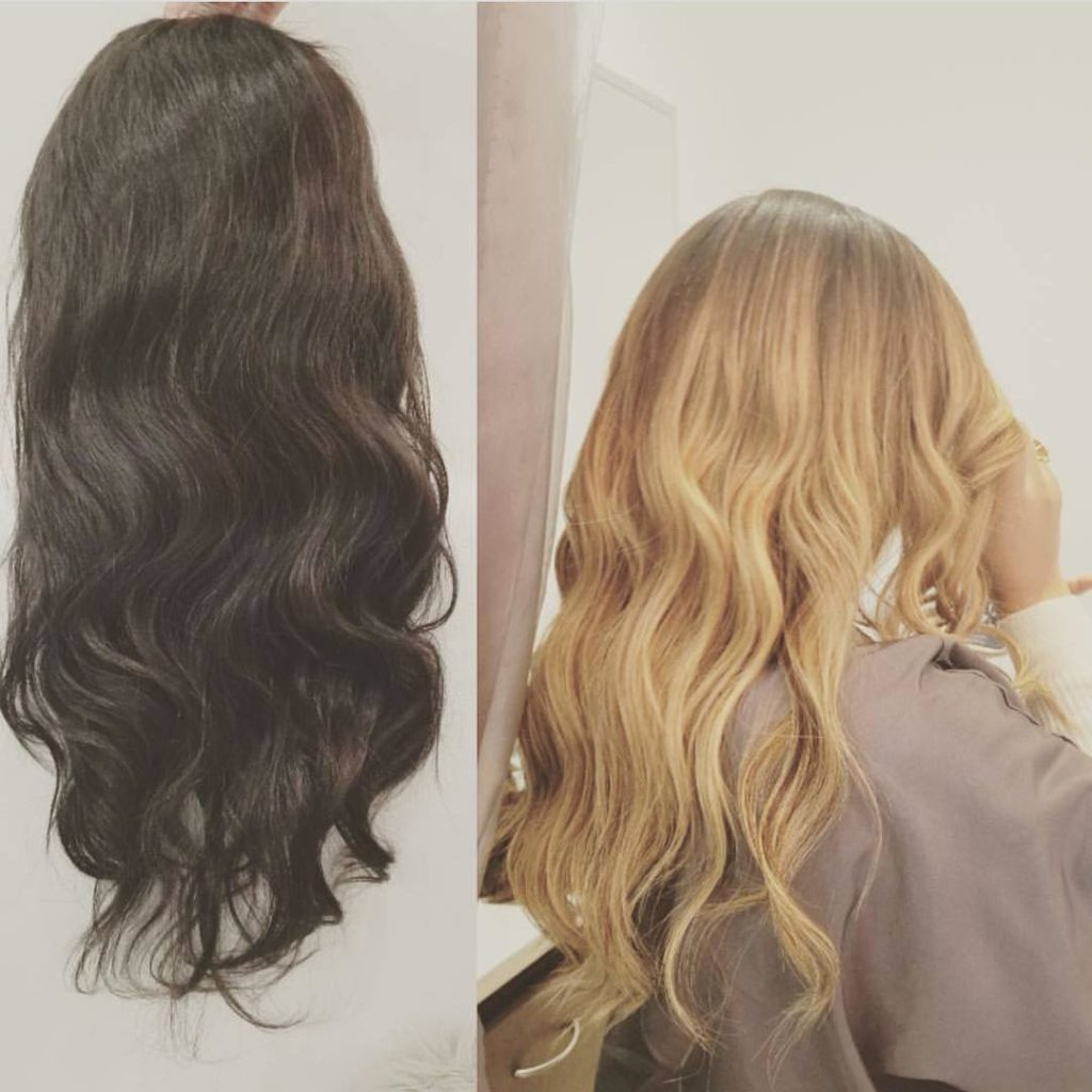 dark to light blonding amoy couture salon