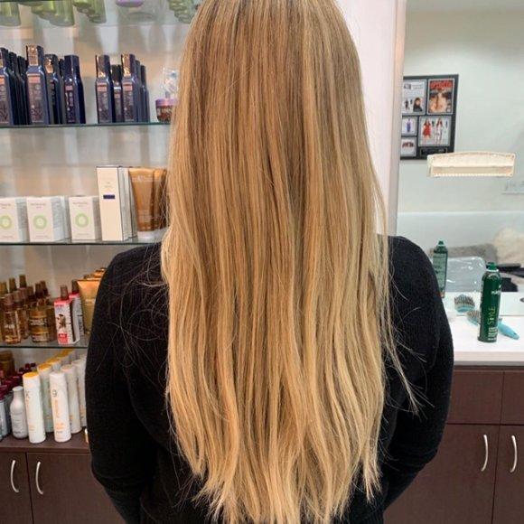 platinum extreme lightening blonding amoy couture hair salon Manhattan NYC