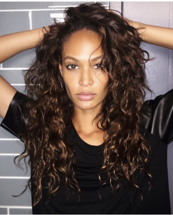 Joan Smalls with custom hair color and extensions Amoy Couture
