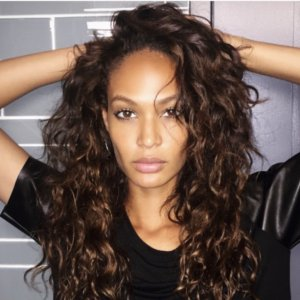 Joan Smalls with custom hair color and extensions Amoy Couture NYC