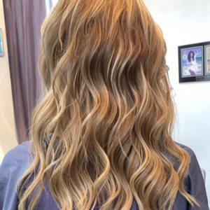 blonde hair with highlights amoy couture NYC