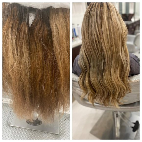 color correction on hair extensions Amoy Couture Manhattan